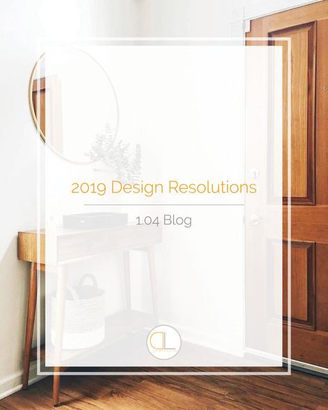 2019 Design Resolutions