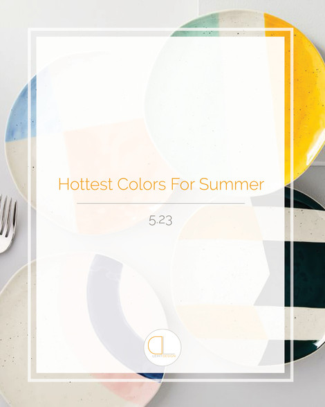 Hottest Colors for Summer 2019
