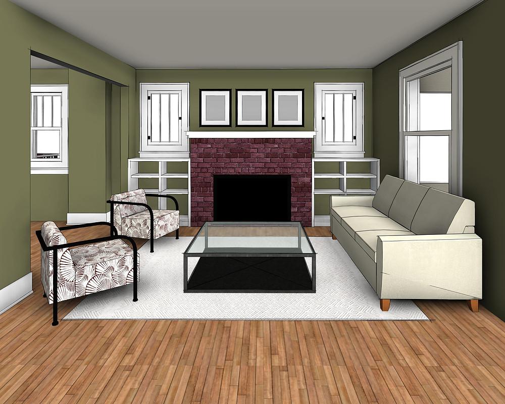Custom built-ins in existing living room
