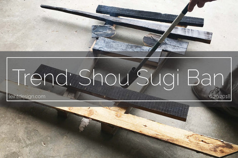 Shou Sugi Ban: What is it?