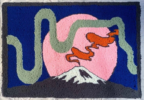 Japan inspired rug 1/2, 30 x 20 inches