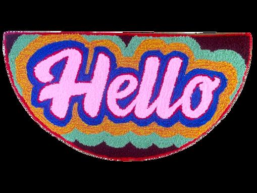 'Hello', 40 x 20 inches