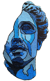 """David"" rug, 35 x 20 inches"