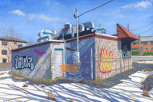Closed Diner, Winter, Bronx, 2021