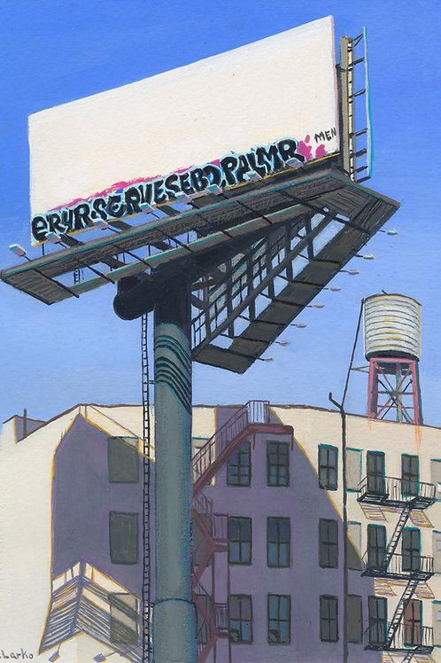 Billboard, South Bronx, 2020