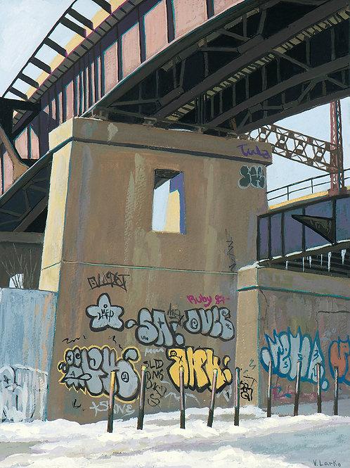 Train Trestle, E 135th Street, Bronx, 2021