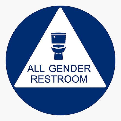 Unisex Restroom Door