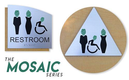 Mosaic Series - Brewery Restroom Signs