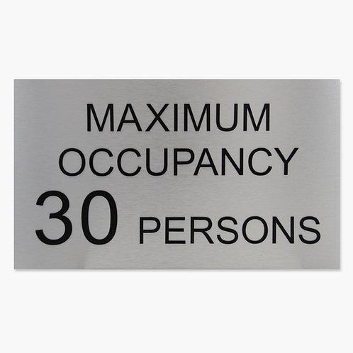 Maximum Occupancy