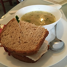 Cup of Soup and 1/2 Sandwich