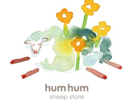 【WORKS】hum hum sheep store/ロゴ制作