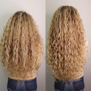 Длинные кудрявые волосы