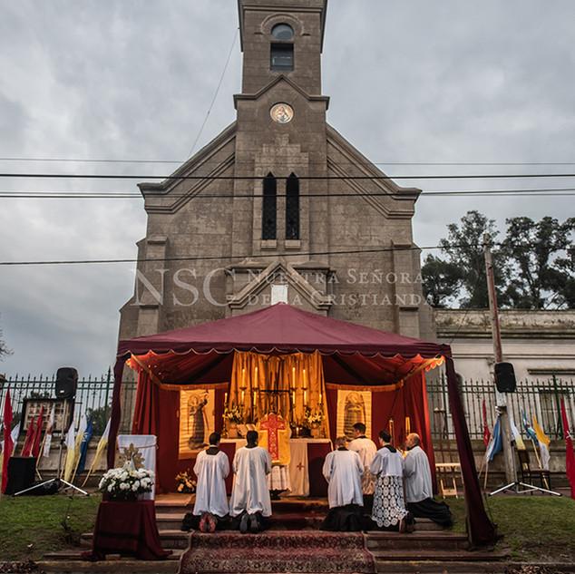 Santa Misa de inicio de marcha. Rawson.