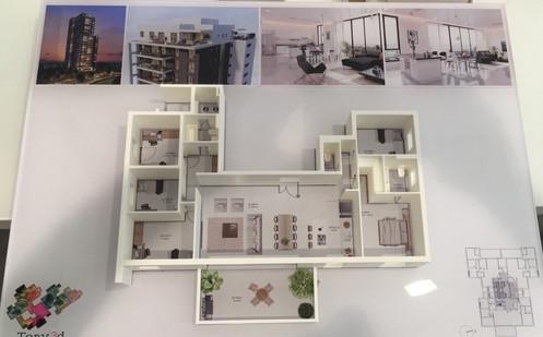 תוכנית דירה בשילוב תוכנית צבעונית 1