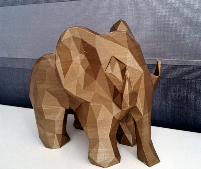 Decorative sculpture of an elephant