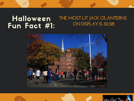 The most lit jack o'lanterns on display is 30,581