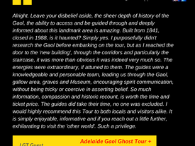Guest Review: Adelaide Gaol Ghost Tour + Investigation