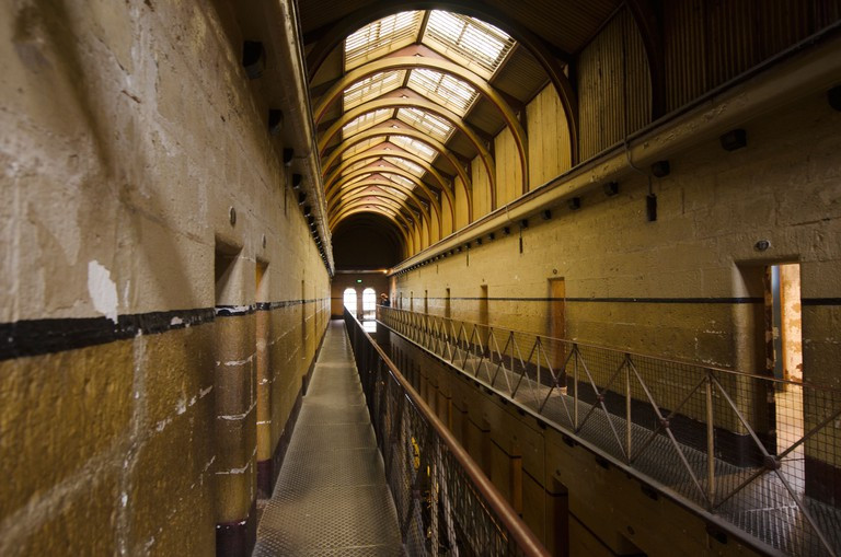 """In the 19th century, the Old Melbourne Gaol dominated the Melbourne skyline as a """"symbol of authority""""."""