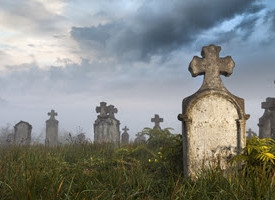 Could you handle an evening in a cemetery?