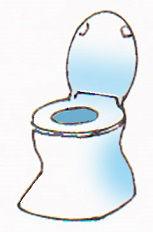 図:段差付き和式トイレの使用例