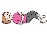 骨盤底筋体操の図 その1