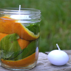 DIY All-Natural Mosquito Repellent Candle