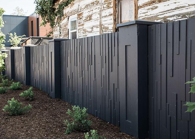 Salem Slats precast privacy fencing utah