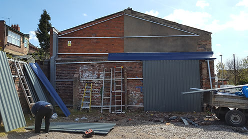 AGS Roofing Stoke Garage refurbsishment