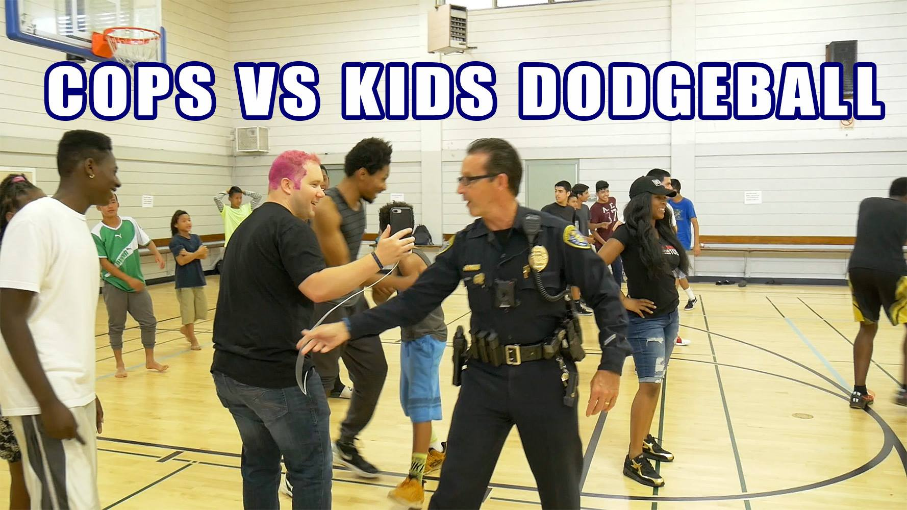 Cops vs Kids Dodgeball w/ Project Human