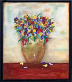 Flowers w Vase #1  18x22 $475