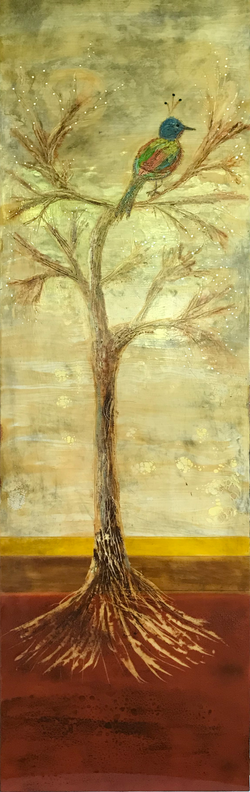 Tree with Bird 18 x 60  $1,400