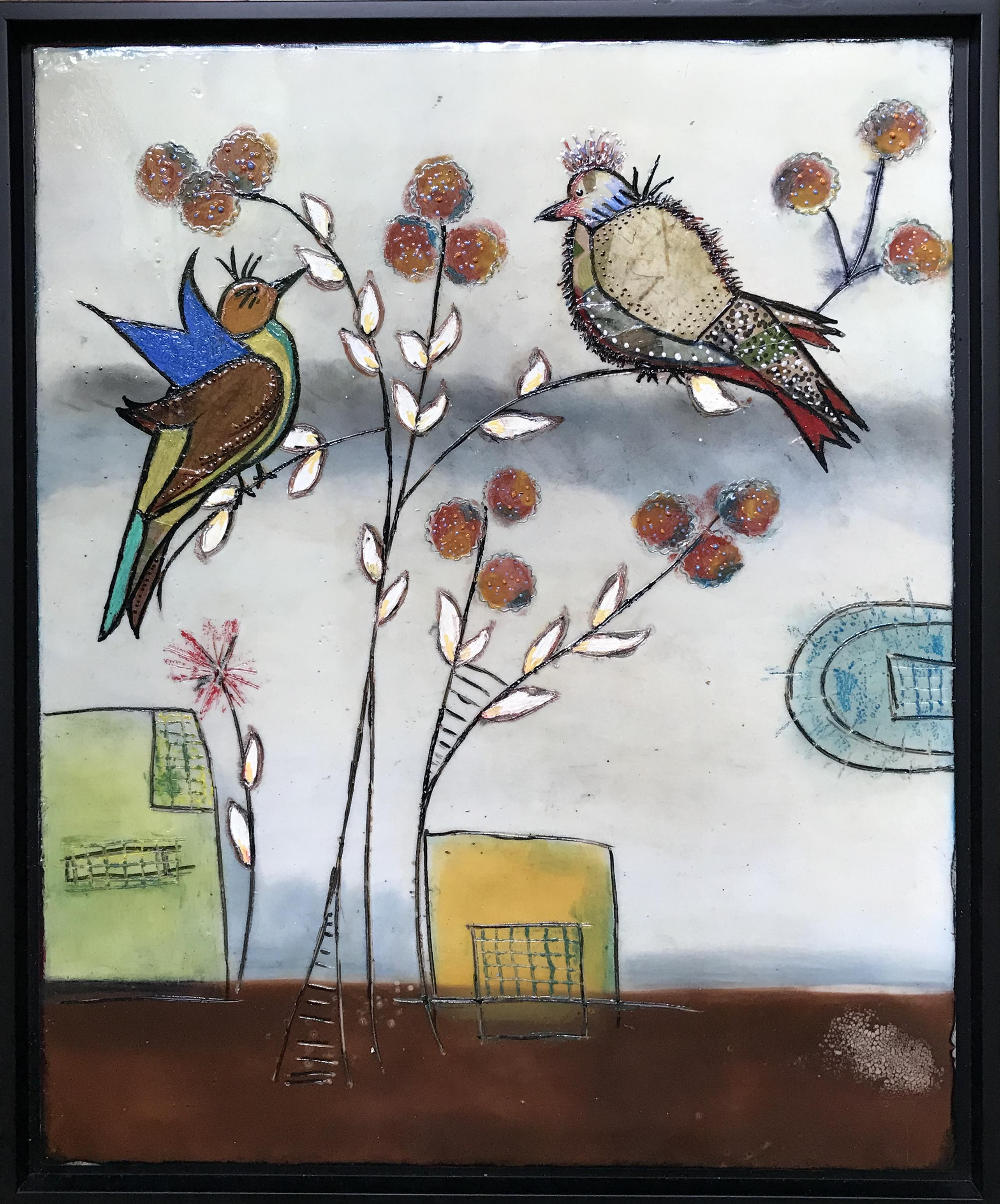 Two Birds 18 x 22   $475