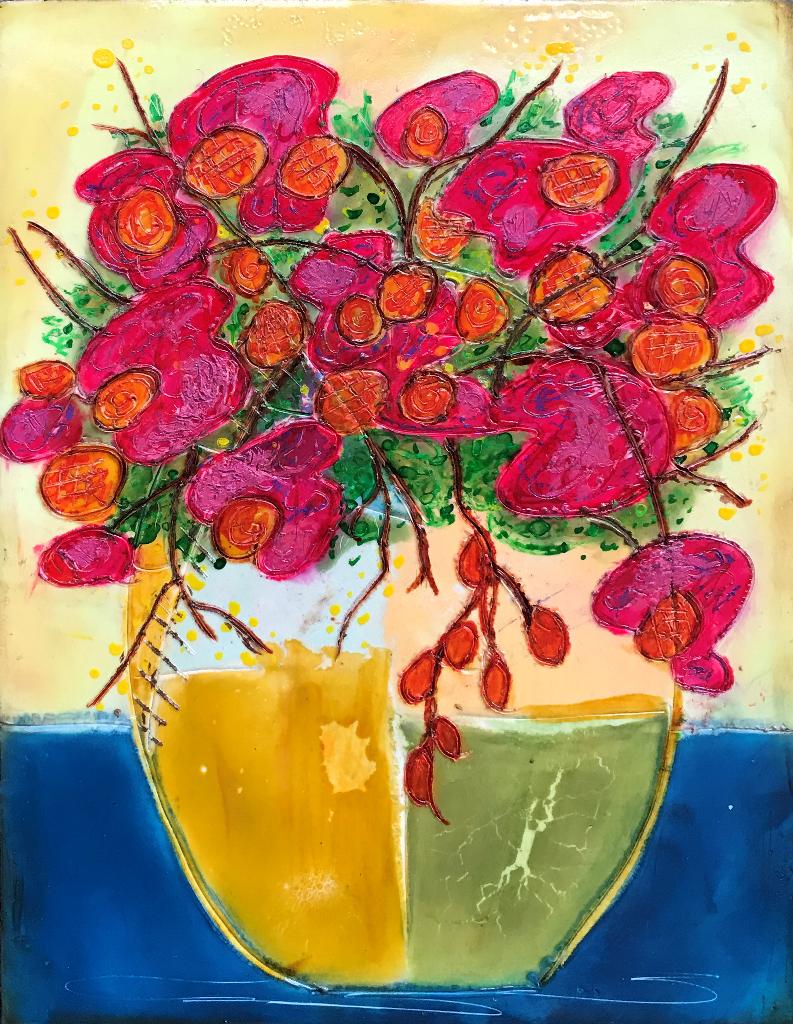 Simple Flowers  9x12  $275