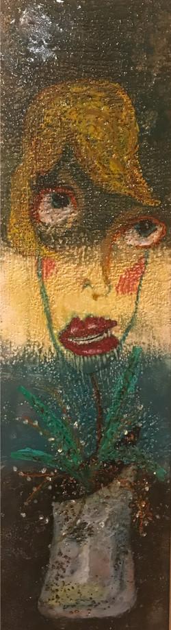 Folk Art Lady 10x36  $425