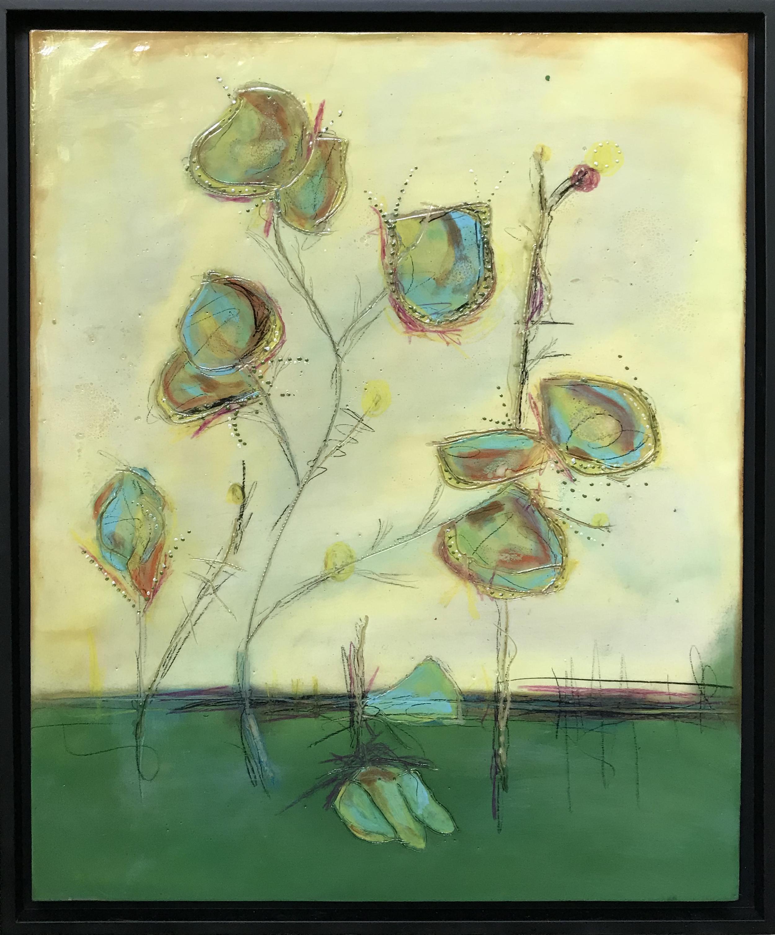 Alien Flowers  18 x 22  $475