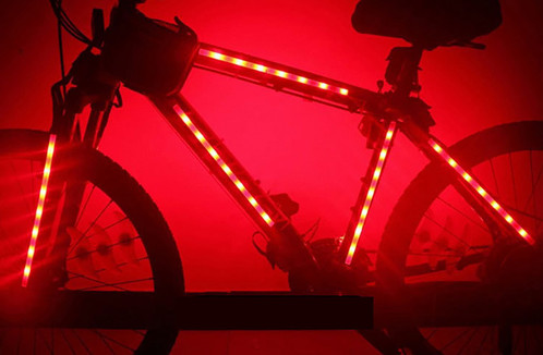 Magic led bike light strips set of 2 led light strips for bike frame help transform your bike from pretty cool to mega coolour lovely led bike lights fit on your bikes frame and make it shine aloadofball Image collections