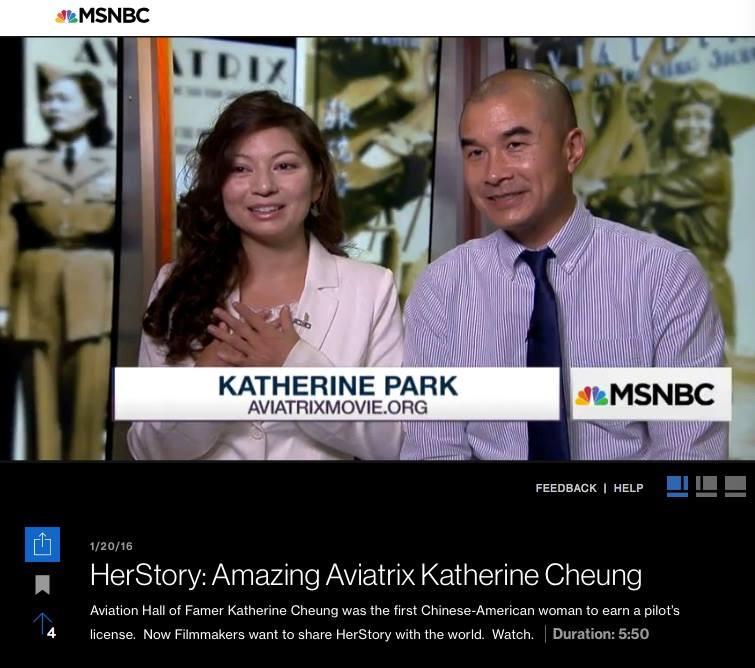 Aviatrix producers Katherine Park and Ed Moy on MSNBC