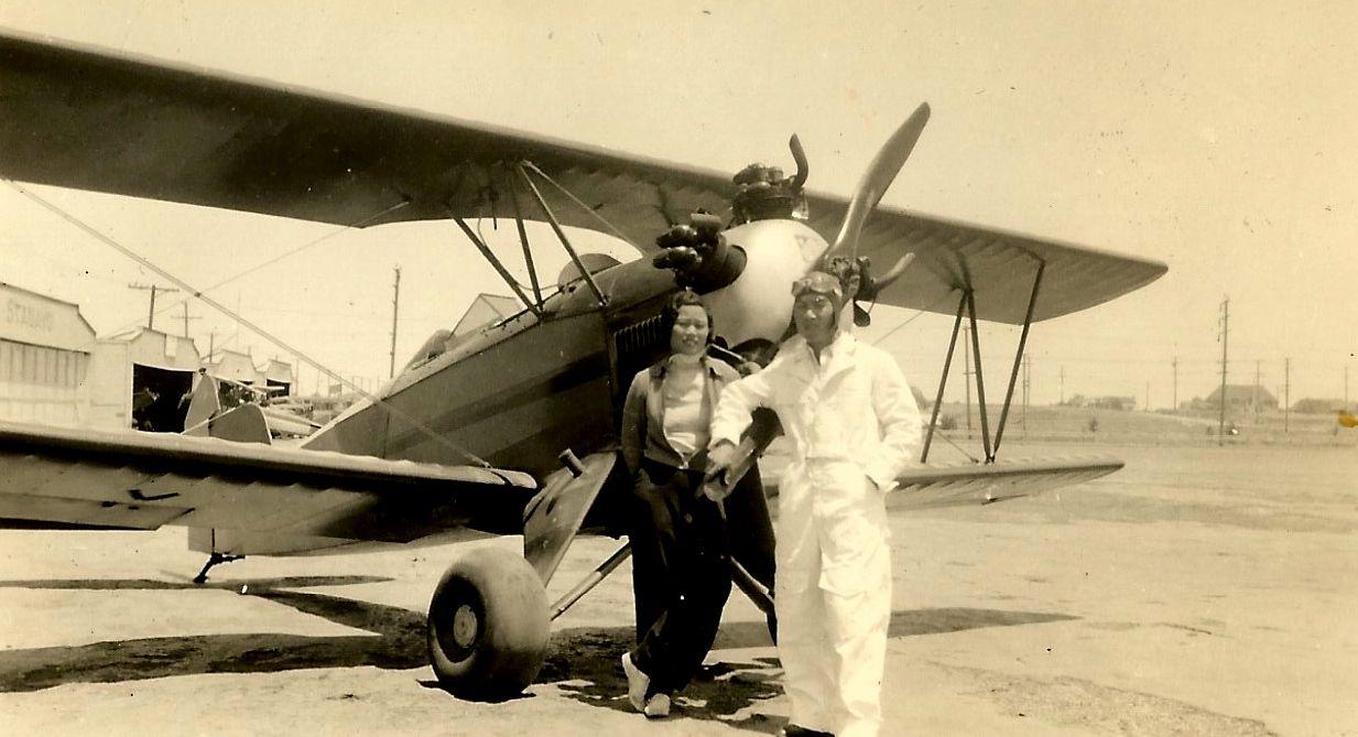 Katherine with pilot