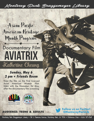 Asian Pacific Heritage Month Free Screening of Aviatrix Documentary