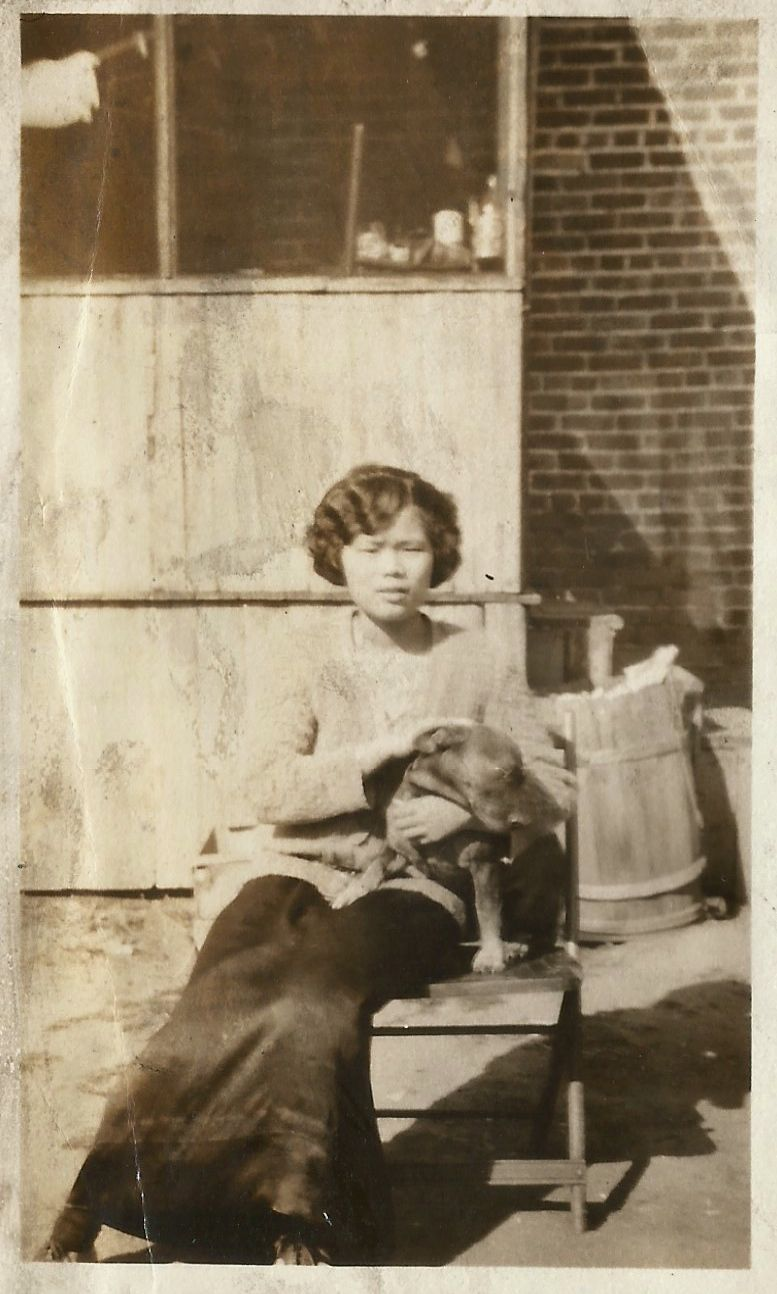 Katherine with her dog