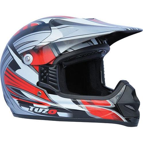 Tuzo Kids MX2 Red Graphic Med Motocross Helmet