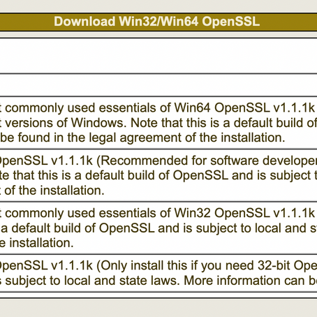Easy way to install OpenSSL in Windows 10