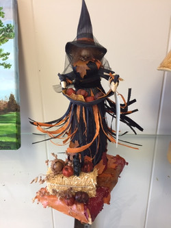 Samhain Witch on Stand (Small)