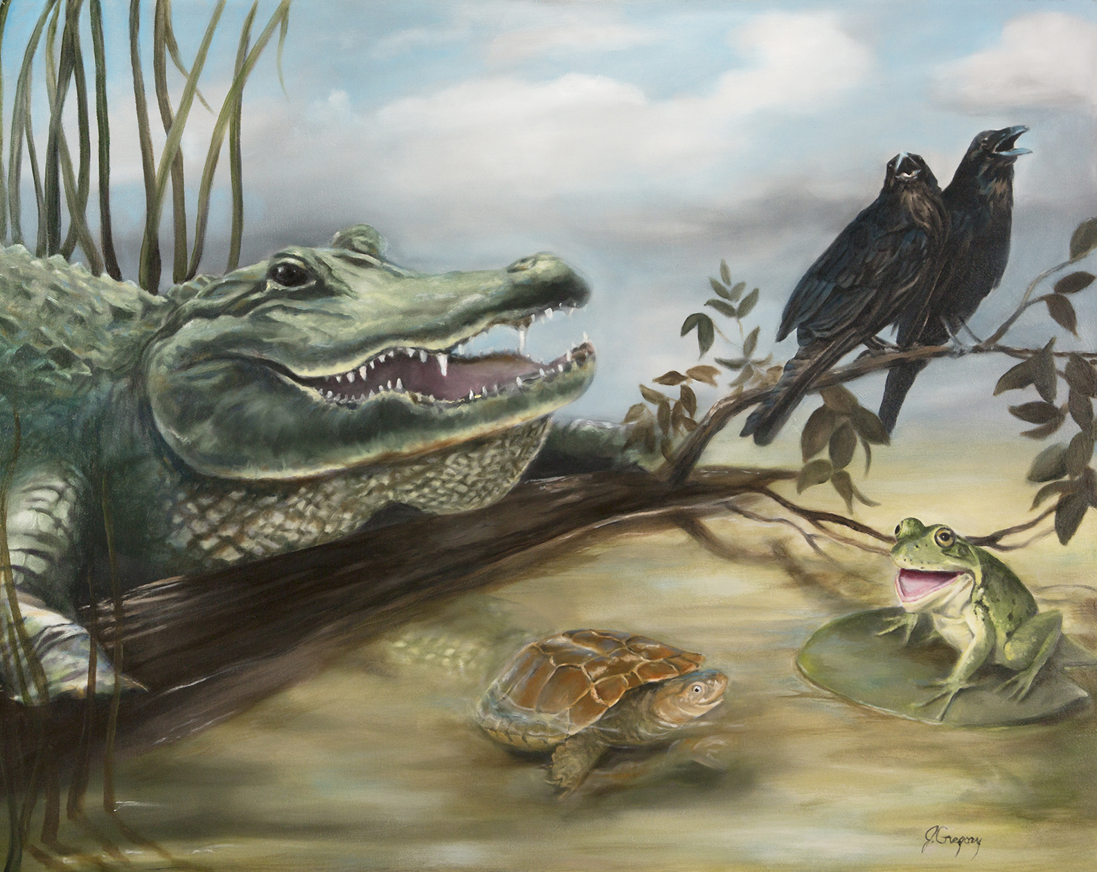Silly Swamp Stories 24x30