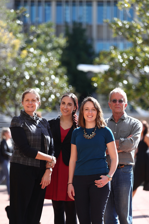 L to R: A/Prof Rae Thomas, Dr Paulina Stehlik, Dr Amanda McCullough, Prof David Henry