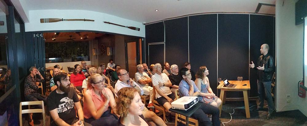 Professor Jonathan Crowe speaks at Gold Coast Skeptics in the Pub.