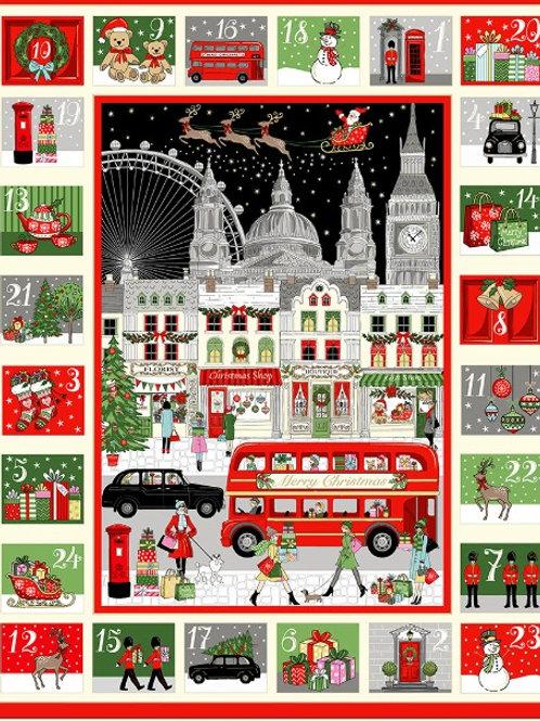 London Christmas by Makower UK Fabrics - Advent Calendar