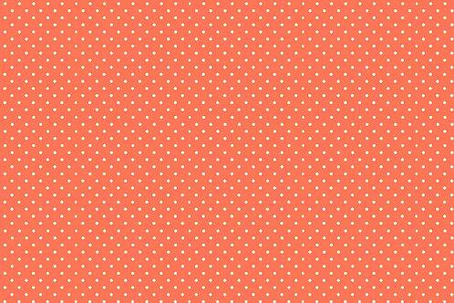 Makower Spot On Fabric - Papaya