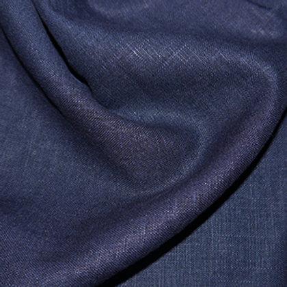"Enzyme Washed Dressmaking Linen - Navy 54"""