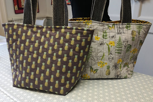 Quilted Tote Bag with Angie 10am - 4pm Sept 3rd  Sewing class